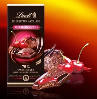 Lindt XXL Creation töltött 70% étcsokoládé - Cherry-Chili 150gr