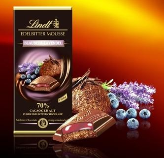 Lindt XXL Creation töltött 70% étcsokoládé - Levendula-kékáfonya 150gr