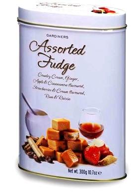 Gardiners skót vajkaramella fudge fémdobozban- Vegyes válogatás 300gr