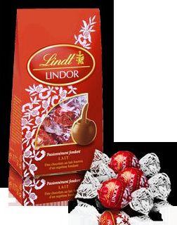 Lindt Lindor dísztasak - Krémes tejcsokoládé desszert100gr