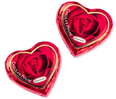 Rózsás szív csokoládé 24gr