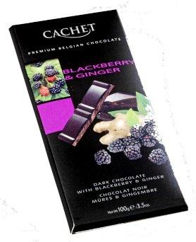 Cachet belga szedres-gyömbéres étcsokoládé 100gr