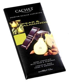 Cachet belga körtés-mandulás étcsokoládé 100gr
