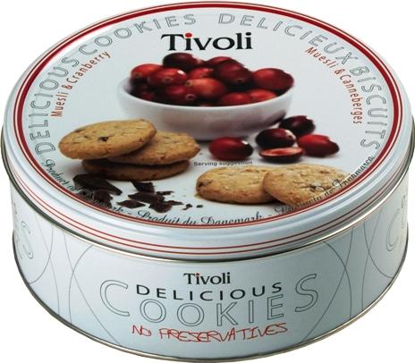 Jacobsens Tivoli müzlis-vörösáfonyás dán keksz 150gr