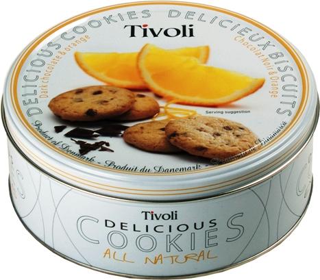Jacobsens Tivoli étcsokoládés-narancsos dán keksz 150gr