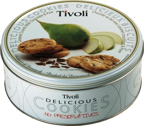 Jacobsens Tivoli körtés-karamellás-csokoládés dán keksz 150gr
