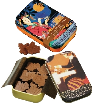 Amatller Mucha csokoládé levelek - tejcsokoládé 30gr