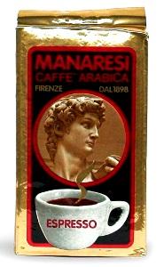 Olasz ínyenc KÉZMŰVES 100% Arabica Manaresi Gold őrölt kávé 250gr