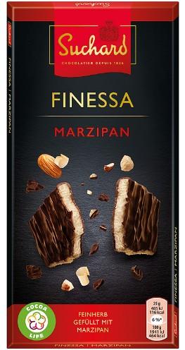 Suchard Finessa svájci csokoládé - Töltött XL marcipán tábla 150gr