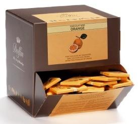 Dolfin belga mini tábla - Narancsos étcsokoládé 10gr