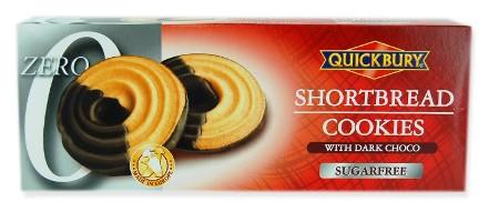 Quickbury cukormentes keksz édesítőszerrel - Étcsokoládés bécsi karikák 125 gr
