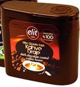 Elit étcsokoládés kávészem dobozban 40gr