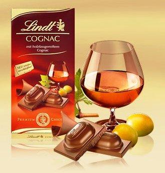 Lindt alkoholos tábla- Konyak 100gr