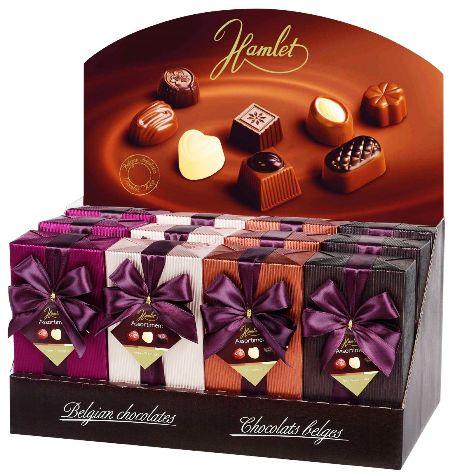 Hamlet belga luxus masnis díszcsomagolt csokoládé desszert 250gr