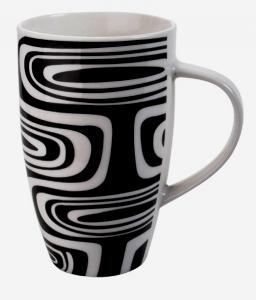 Hosszú elegáns black and white design bögre
