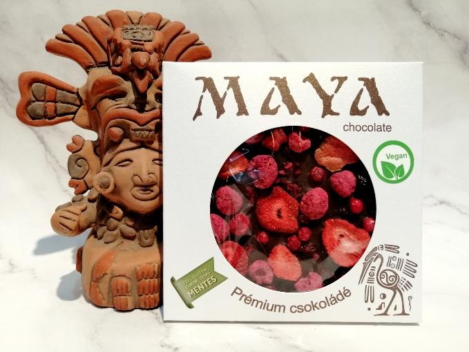Maya Chocolate prémium Paleo cukormentes tejmentes gluténmentes csokoládé édesítőszerrel- Paleo Fruits 100gr
