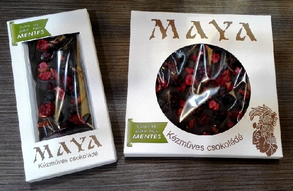 Maya Chocolate prémium Paleo cukormentes tejmentes gluténmentes csokoládé édesítőszerrel - Gábriel Őrangyal 50gr