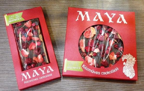 Maya Chocolate prémium Paleo cukormentes tejmentes gluténmentes csokoládé édesítőszerrel- Paleo fruits 50gr