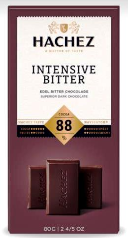 Hachez prémium étcsokoládé - 88% extra dark étcsokoládé 100gr
