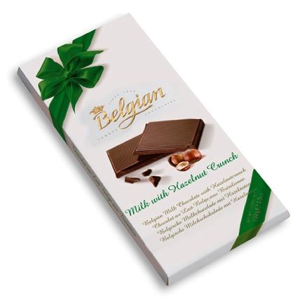 Belgian belga csokoládé - Mogyorós tejcsokoládé 100gr