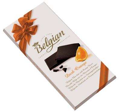 Belgian belga csokoládé - Narancsos étcsokoládé 100gr