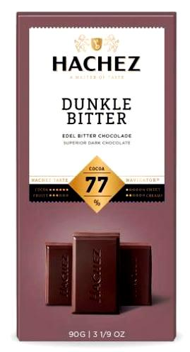 Hachez prémium étcsokoládé - 77% dark natúr nemesi étcsokoládé 90gr