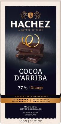 Hachez prémium étcsokoládé - 77% dark narancsos 100gr