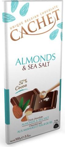 Cachet belga sós mandulás étcsokoládé 100gr