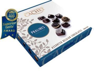 Cachet belga praliné válogatás - Étcsokoládé szelekció 195gr