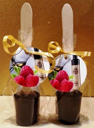 Maya Chocolate kanalas forró csokoládé -Rézangyal Málnapálinkás étcsokoládé 50gr