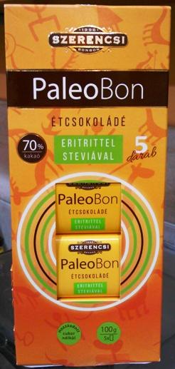 Szerencsi PaleoBon cukormentes Paleo csokoládé édesítőszerrel 5x20gr
