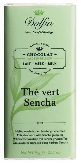 Dolfin belga zöld Sencha teás tejcsokoládé 70gr