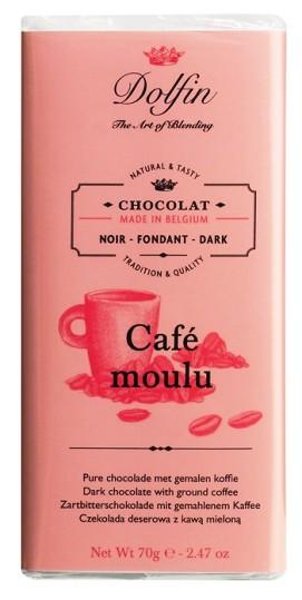 Dolfin belga őrölt kávés étcsokoládé 70gr