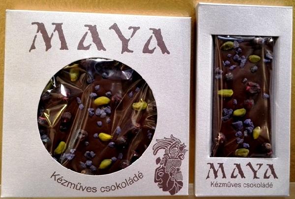 Maya Chocolate prémium étcsokoládé - Syrah Wino 50gr
