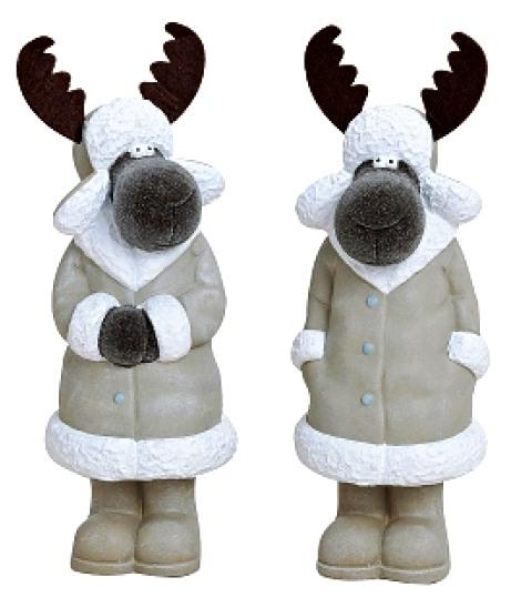 Kerámia karácsonyi rénszarvas dísztárgy