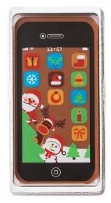 Karácsonyi csokoládékép - Karácsonyi IPhone okostelefon 40gr