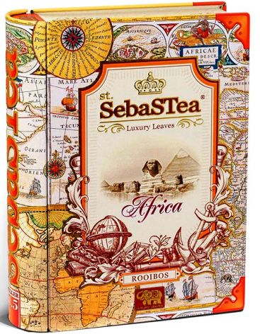 SebasTea luxus fémdobozos teakönyv - Az utazó: Afrika Rooibos tea 100gr