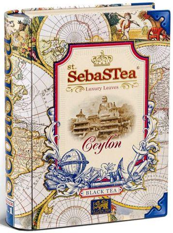 SebasTea luxus fémdobozos teakönyv - Az utazó: Ceylon fekete tea 100gr