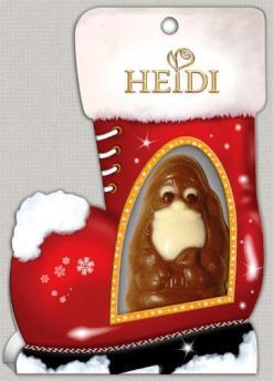 Heidi ünnepi csokoládé - Csizmás Mikulás csokoládéfigura díszdobozban 20gr