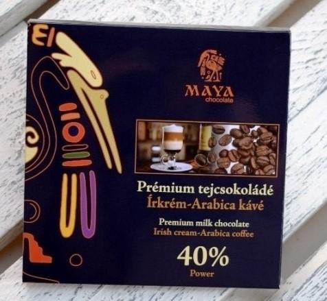 Maya Chocolate Prémium Maya ősi csokoládésorozat - Power 40% írkávés tejcsokoládé arabica kávéval gazdagítva 100gr