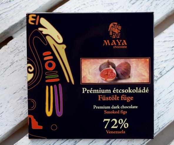 Maya Chocolate Prémium Maya ősi csokoládésorozat - Venezuela 72% étcsokoládé füstölt fügével 100gr