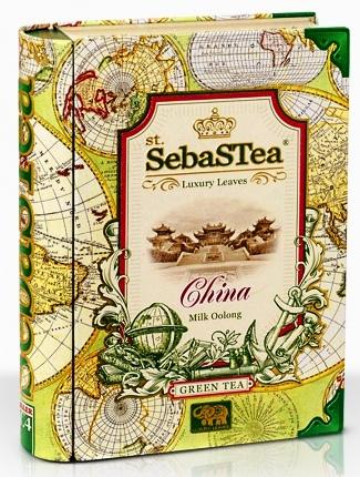 SebasTea luxus fémdobozos teakönyv - Az utazó: Kína zöld Oolong tea 100gr