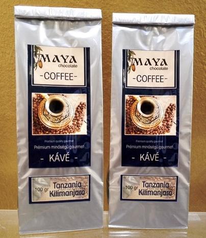 Maya Chocolate ínyenc kávé - Tanzania Kilimanjaro 100gr