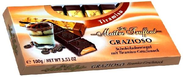 Maitre Truffout Grazioso töltött csokoládé szeletek - Tiramisu 100gr