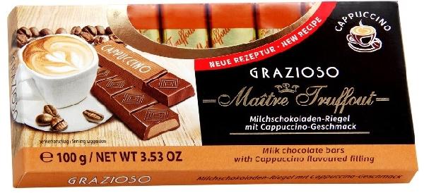 Maitre Truffout Grazioso töltött csokoládé szeletek - Cappuccino 100gr