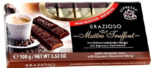 Maitre Truffout Grazioso töltött csokoládé szeletek - Espresso 100gr