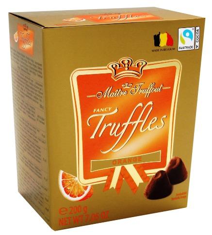 Maitre Truffout belga trüffel - Narancsos étcsokoládé trüffel 200gr