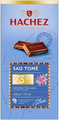 Hachez prémium eredetszelektált csokoládé -  73% Sao Tomé étcsokoládé 100gr