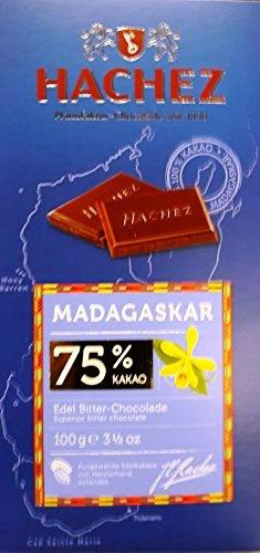 Hachez prémium eredetszelektált csokoládé -  75% Madagaskar étcsokoládé 100gr