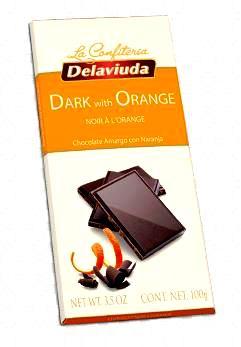 Delaviuda spanyol csokoládé - Narancsos 70%-os  étcsokoládé